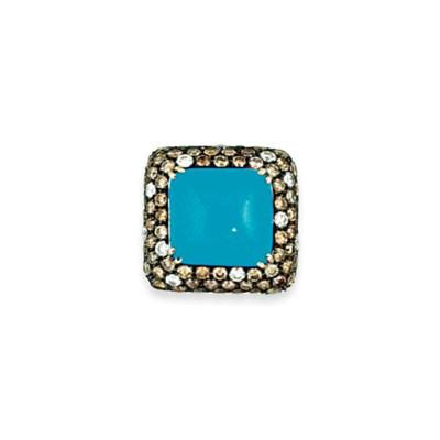 A turquoise, coloured diamond