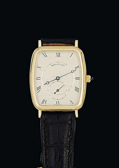 An 18ct gold wristwatch, by Br