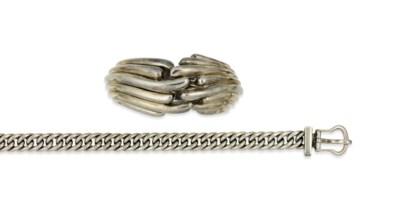 A silver bangle, by Tiffany &
