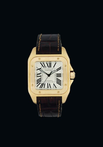 An 18ct pink gold automatic 'S