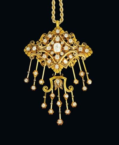 A late 19th century diamond an