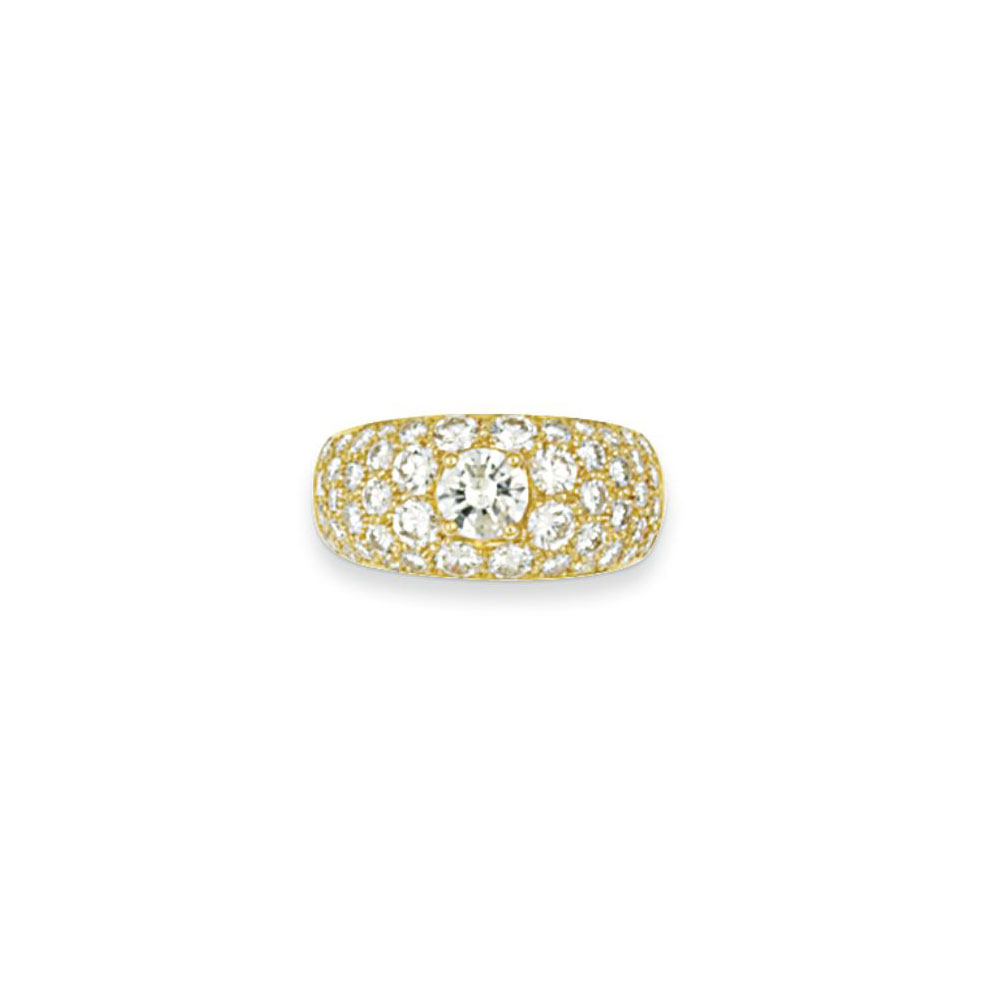 A diamond dress ring, by Bulga