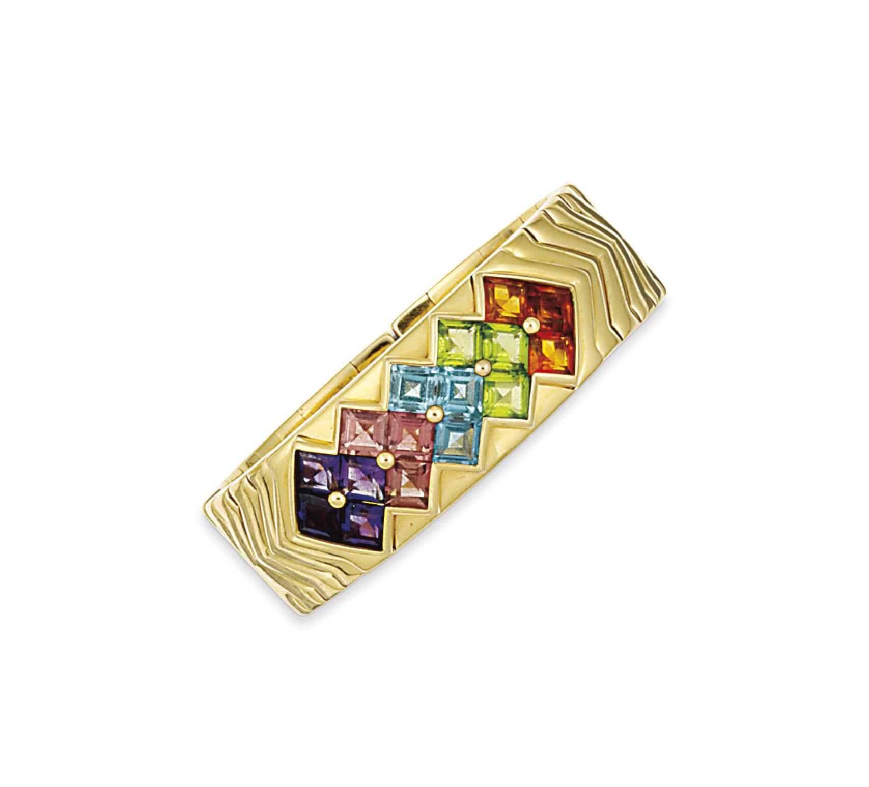 A gem-set bangle, by Bulgari