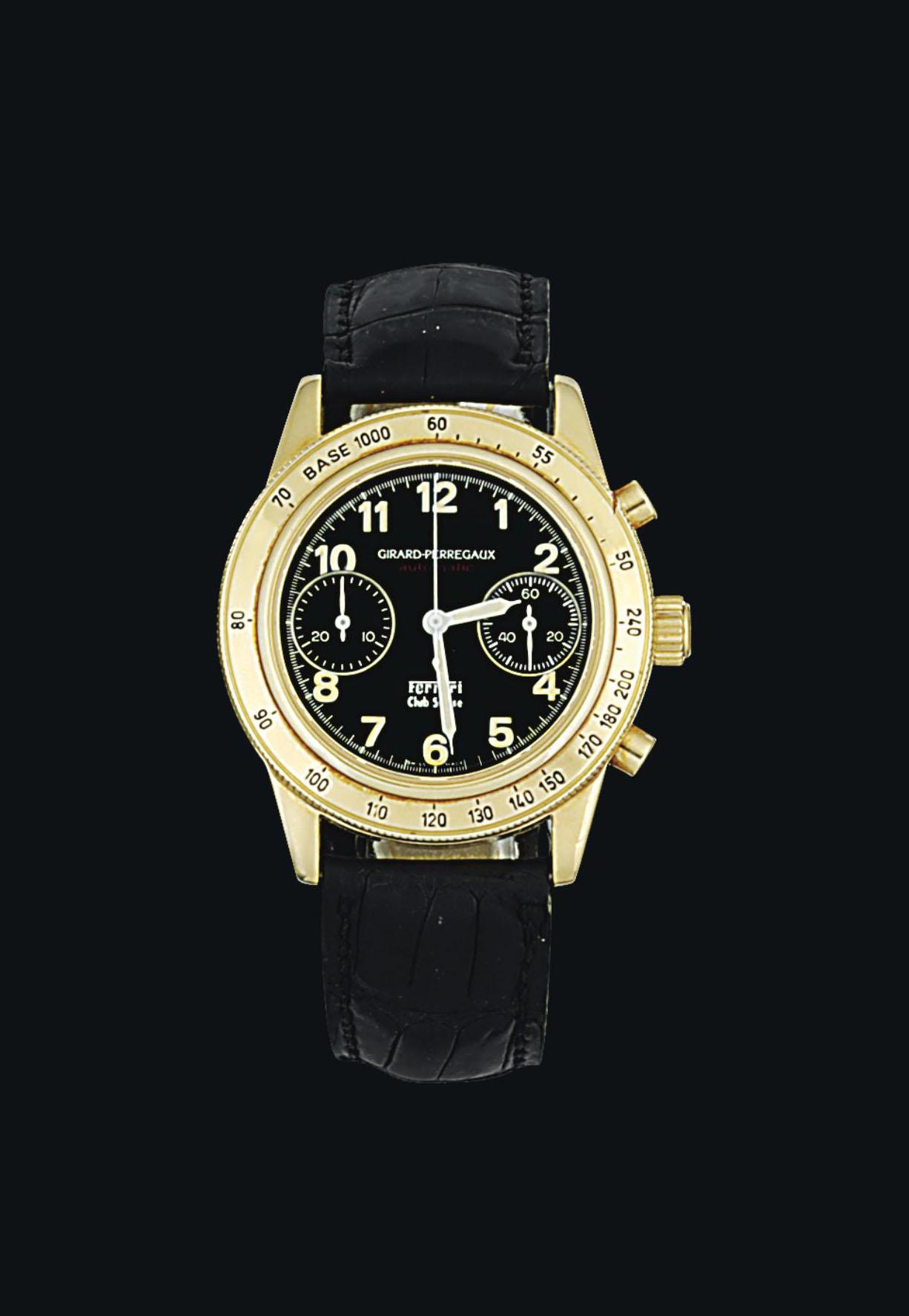 An 18ct gold automatic chronog