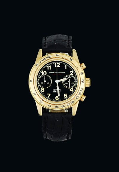 An 18ct gold automatic chronog