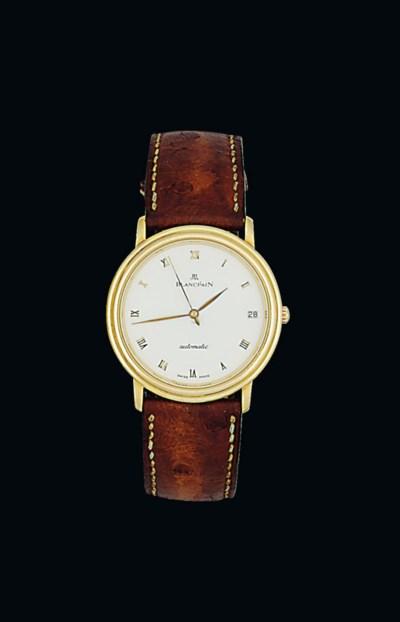 An 18ct gold automatic wristwa