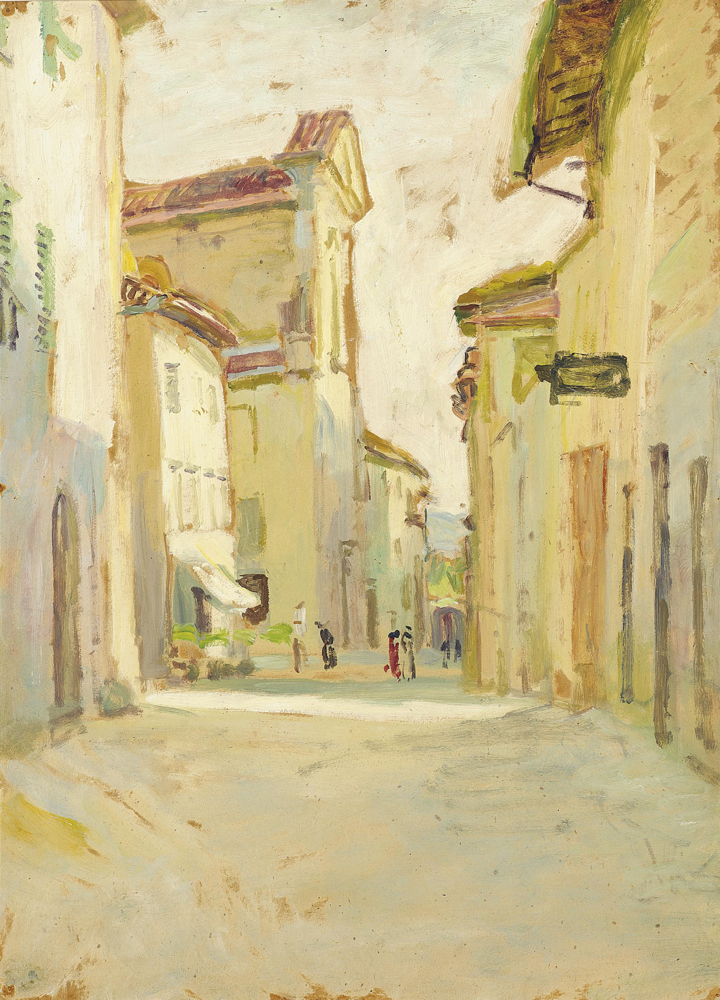 Figures in a Street, Asolo, Italy