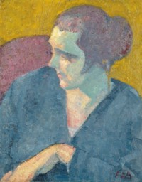 Portrait of a Woman in Blue