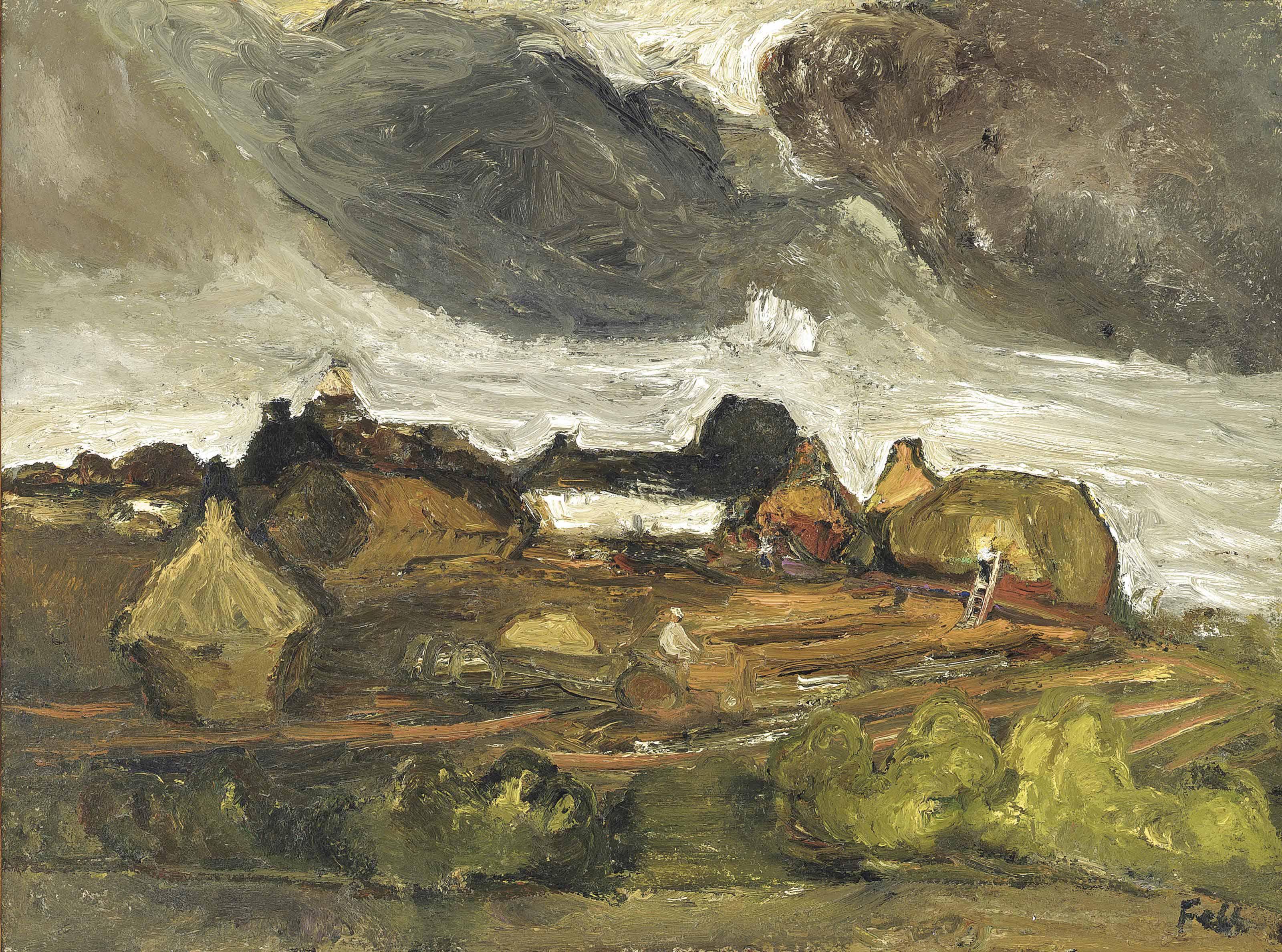 Farm in a field