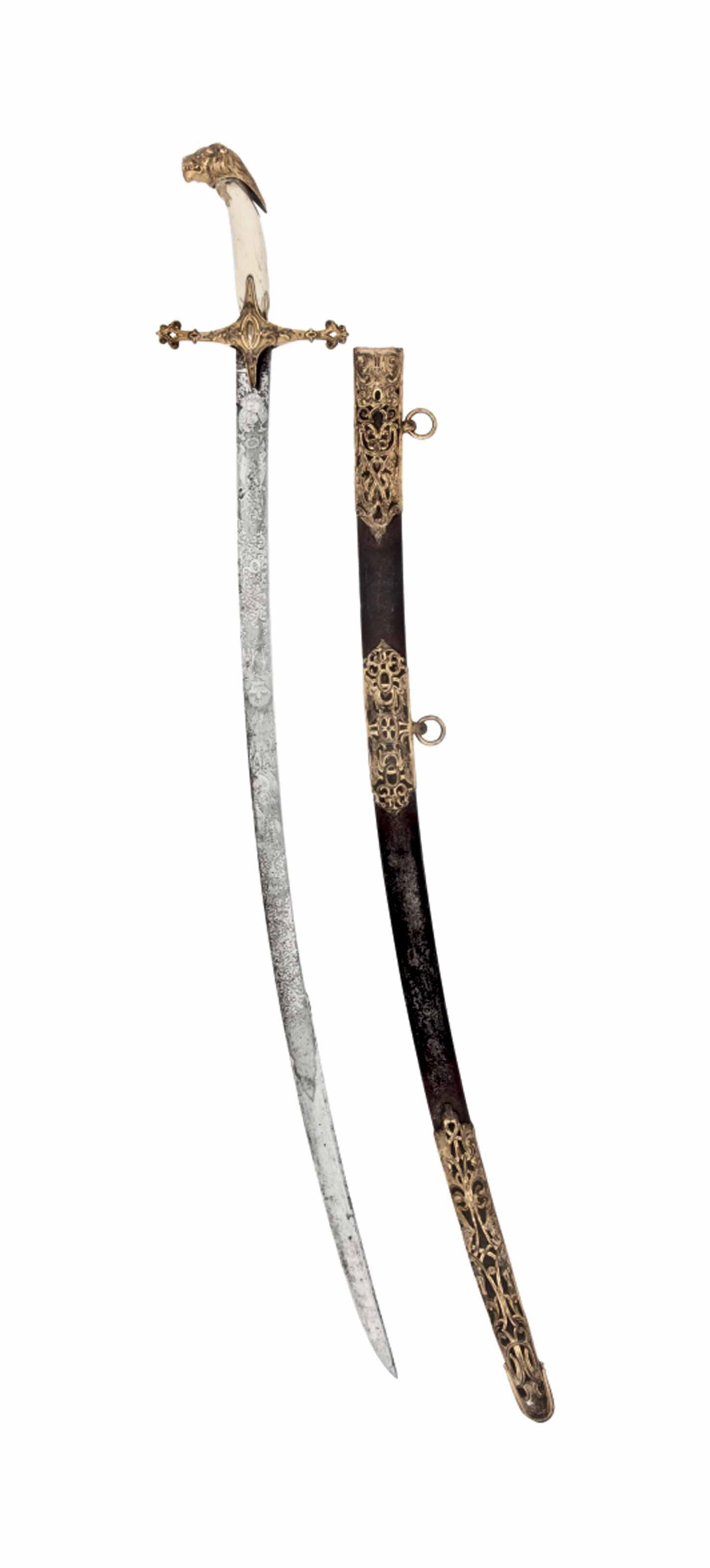 A BRITISH 16TH LANCERS OFFICER'S LEVÉE SWORD