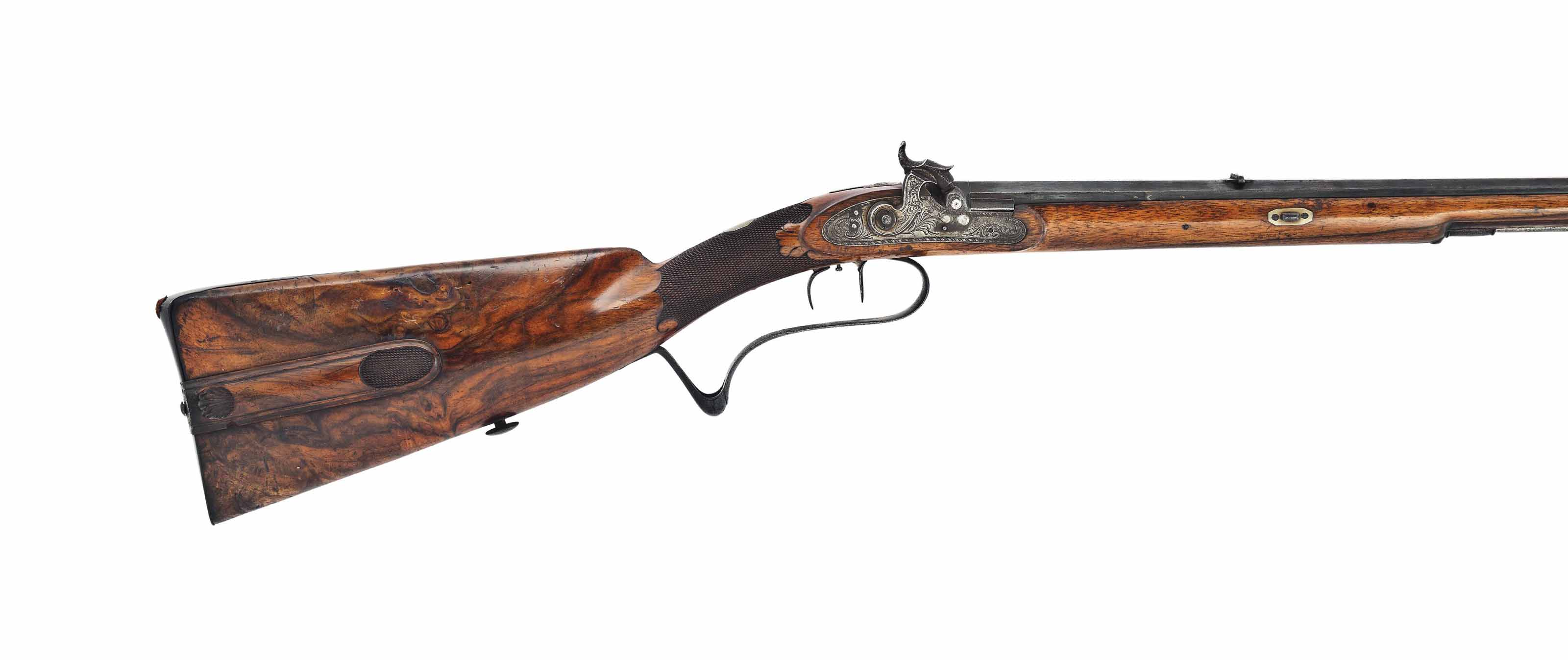 A GERMAN 100-BORE PERCUSSION PARK RIFLE