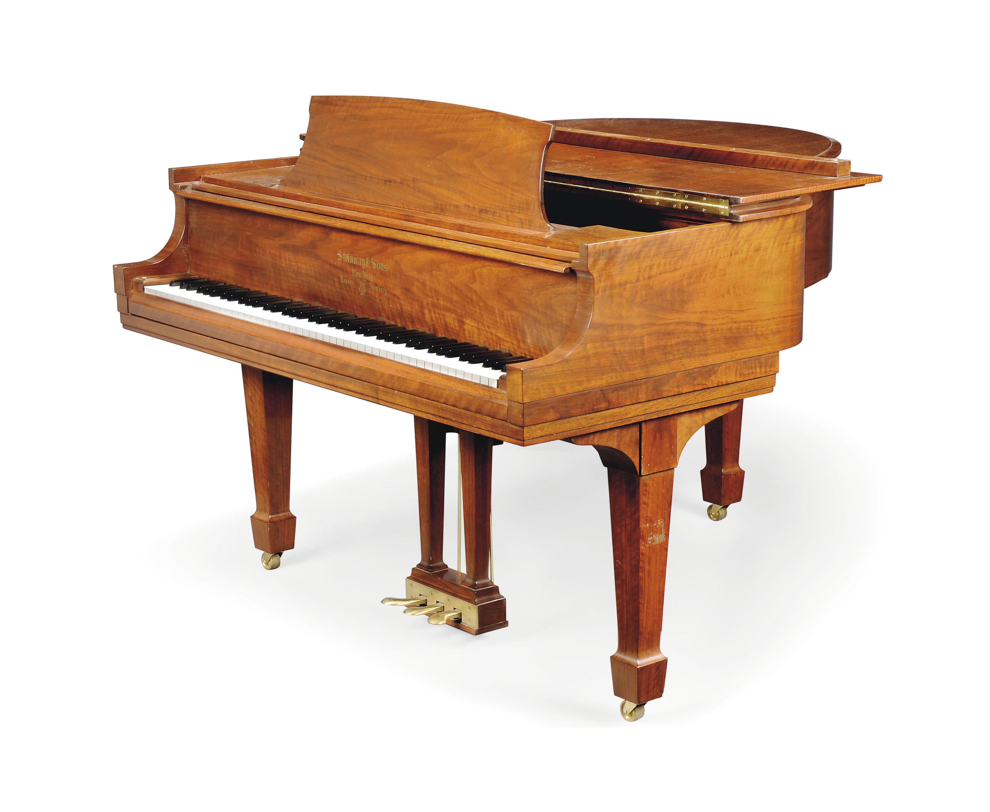 A STEINWAY 'NEW YORK GRAND MODEL S' WALNUT PIANO