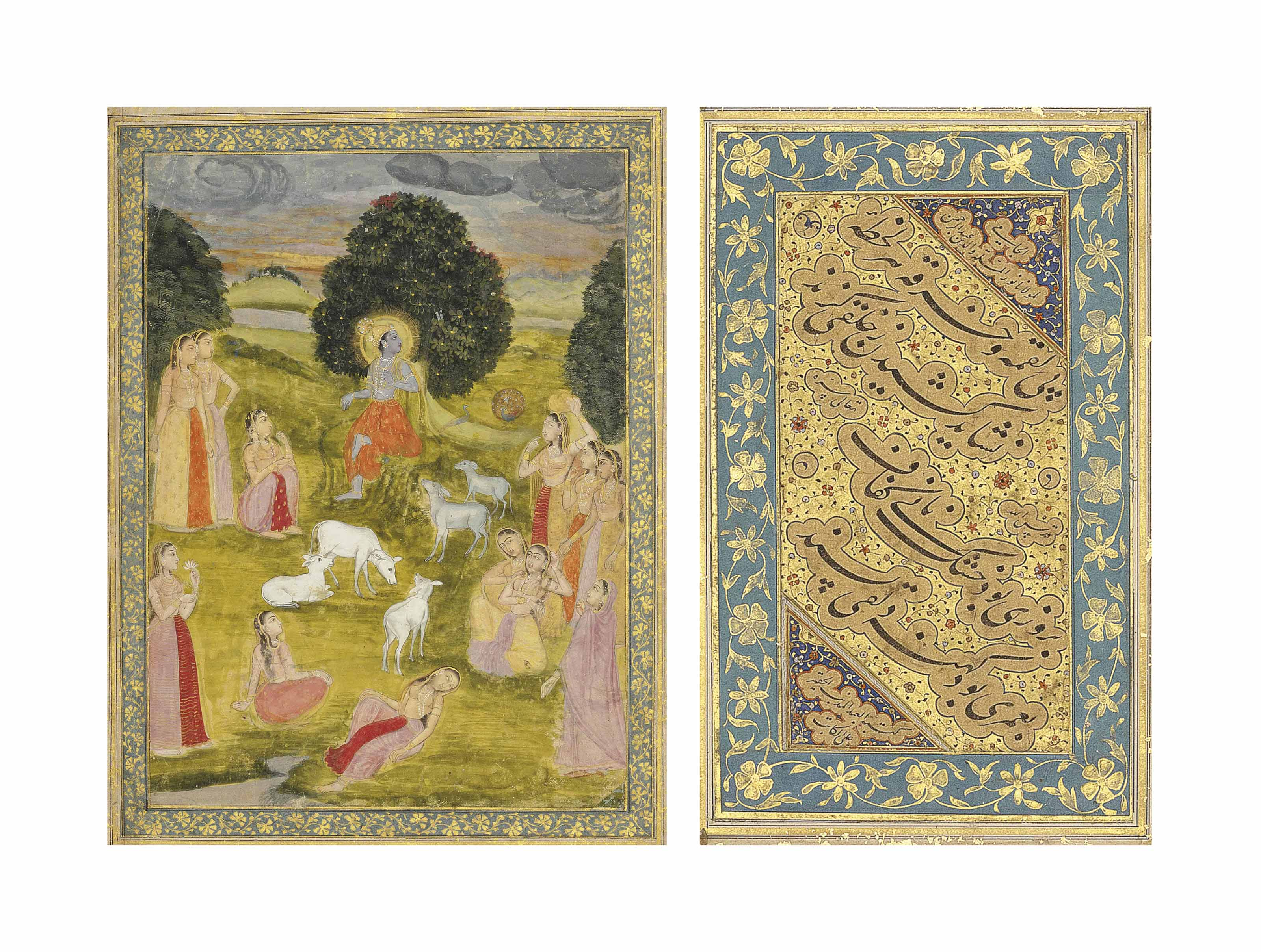 A PAGE FROM A MUGHAL ALBUM: KR