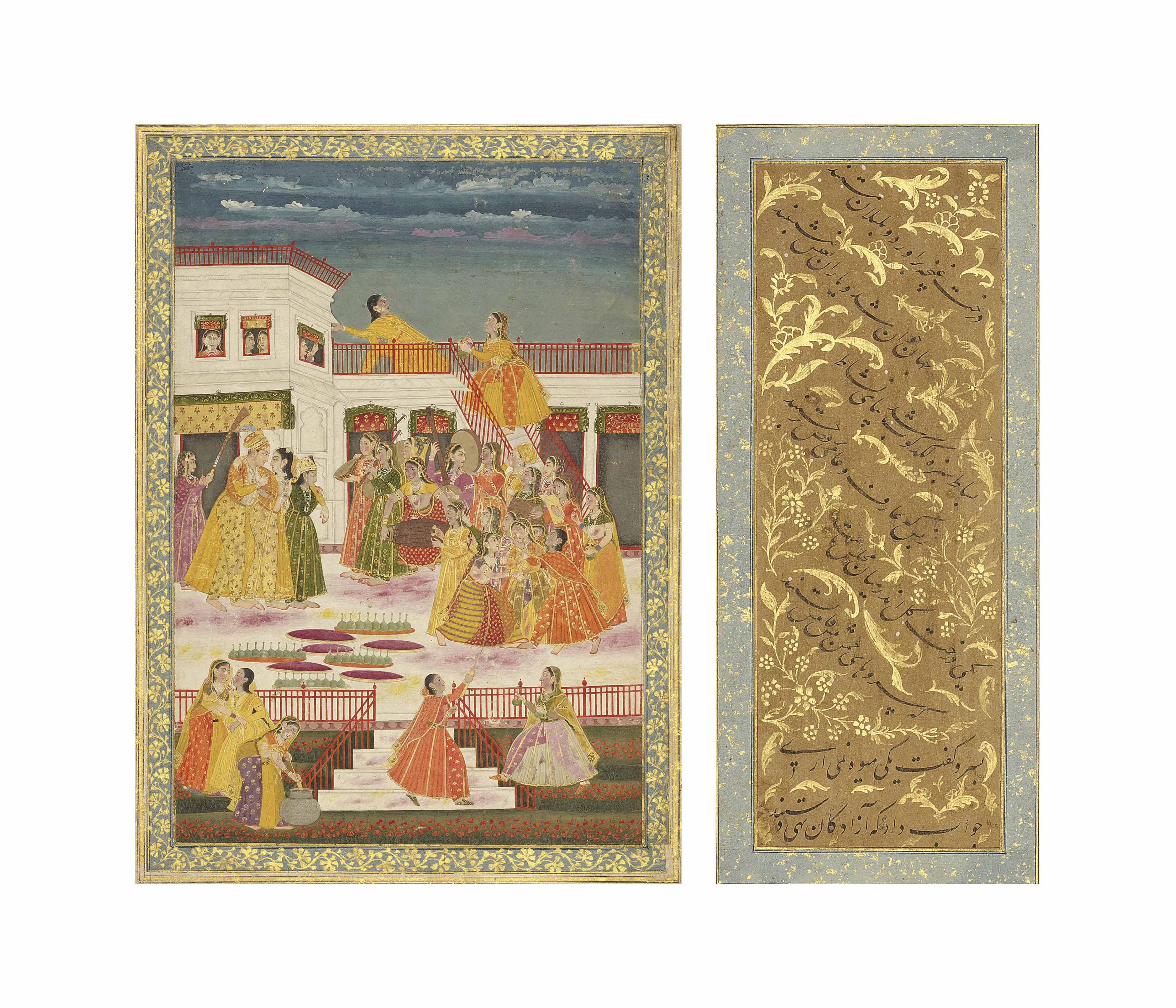 A PAGE FROM A MUGHAL ALBUM: TH