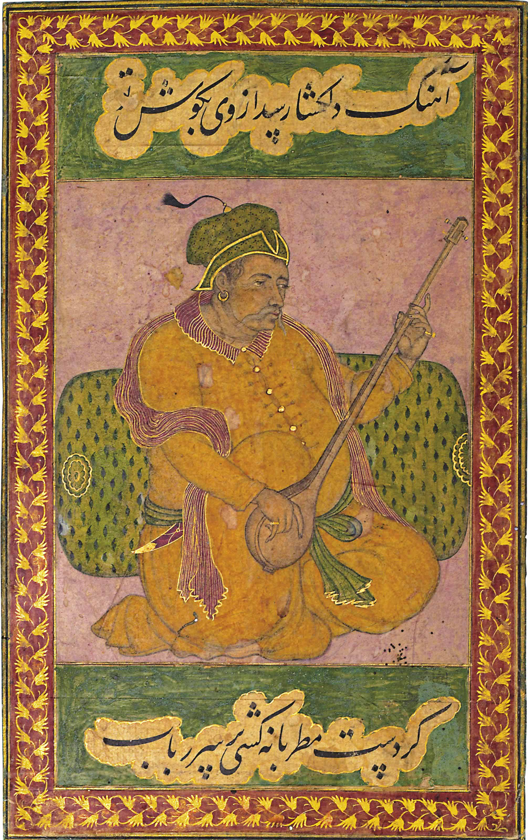 A MUSICIAN PLAYING THE TAMPURA