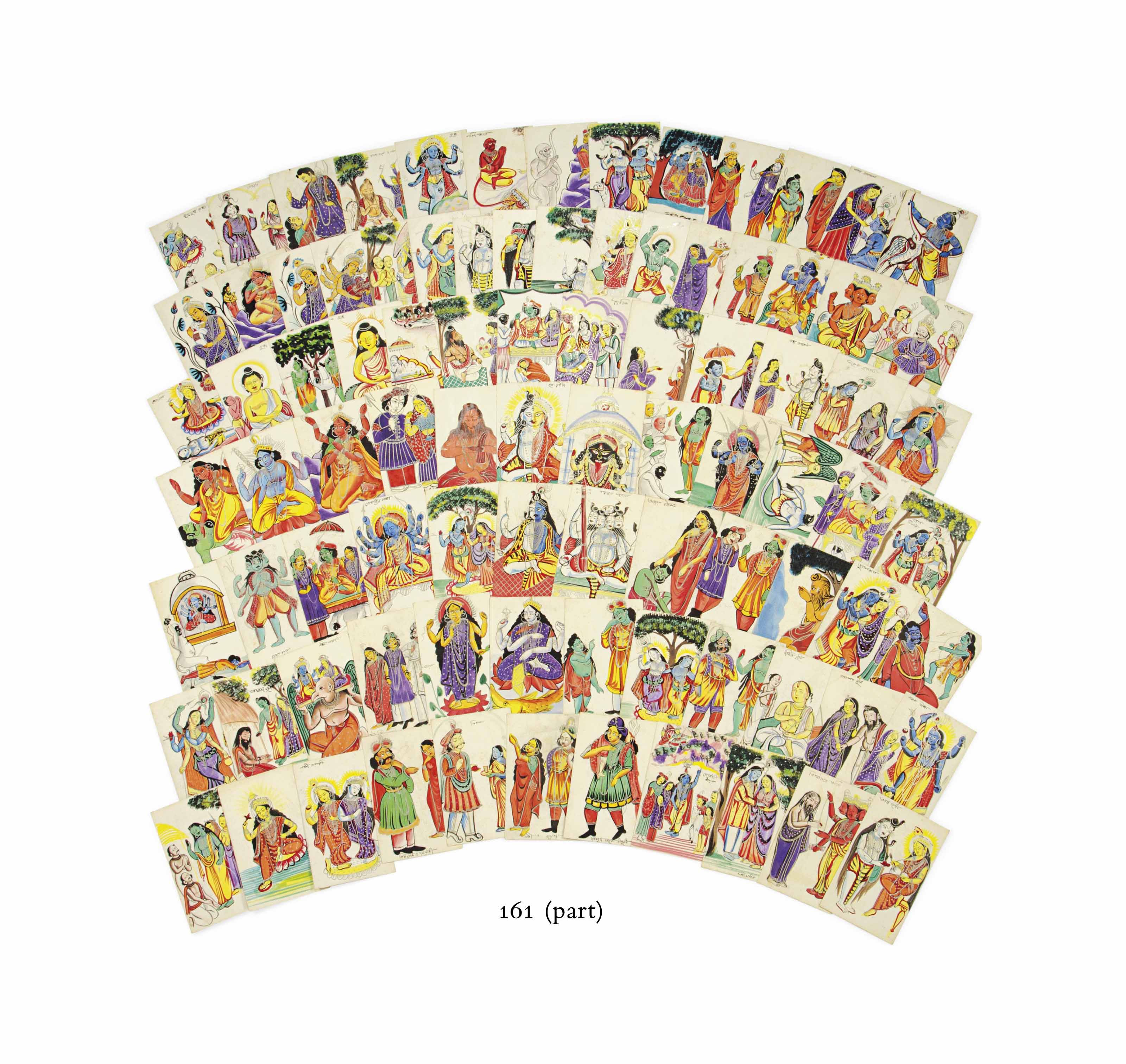 A LARGE COLLECTION OF KALIGHAT
