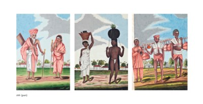 EIGHT WATERCOLOURS OF CASTES A