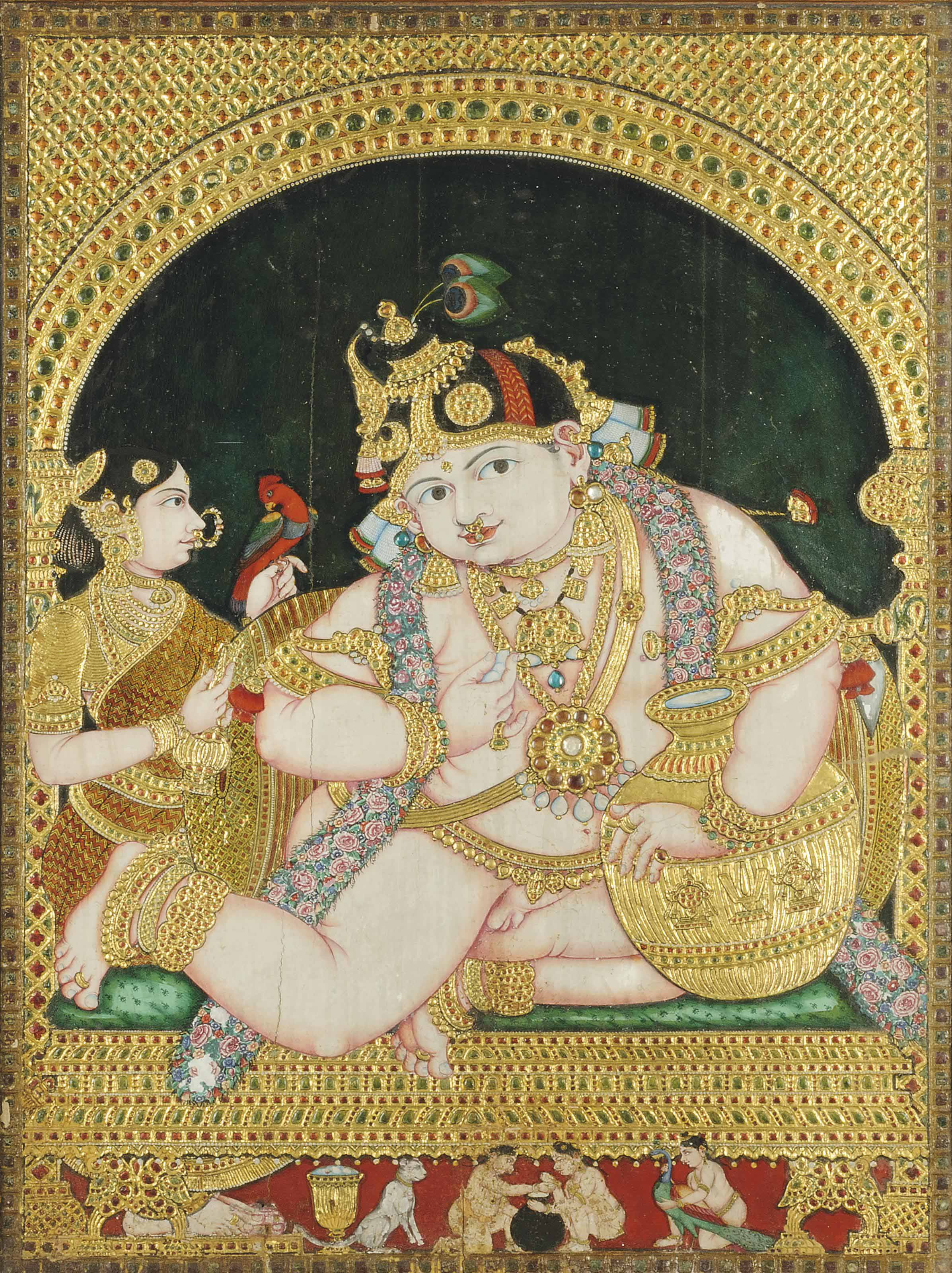 THE CHILD KRISHNA AS THE BUTTE