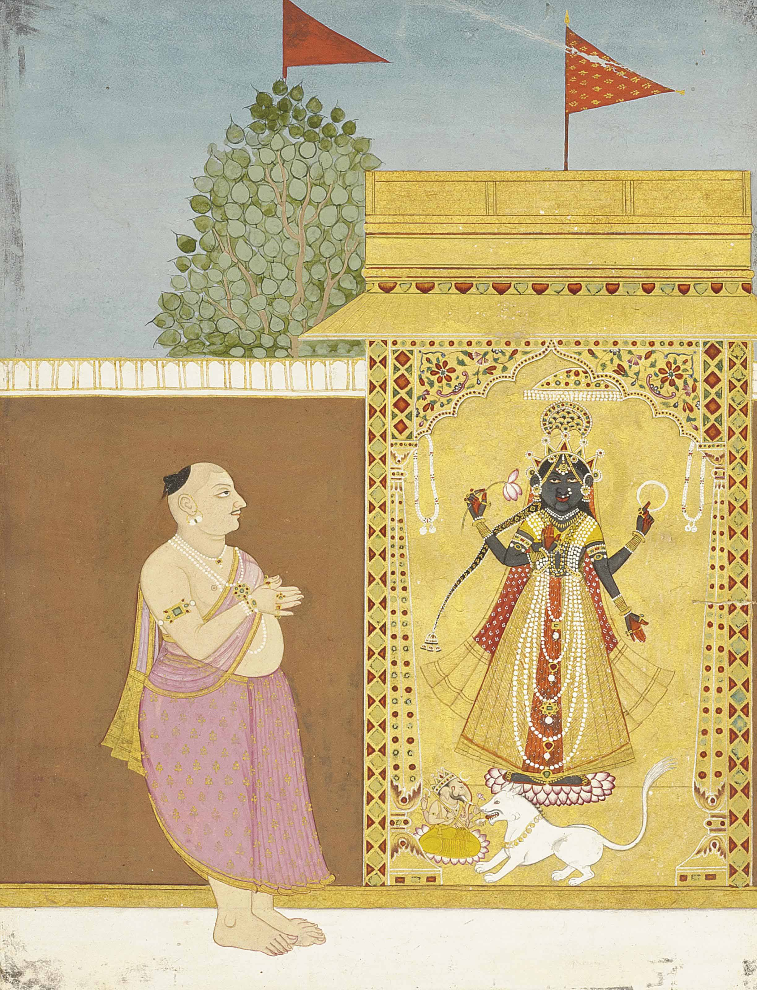 THE WORSHIP OF DEVI