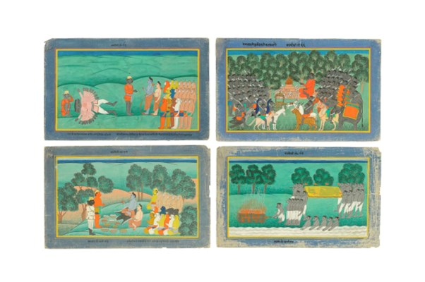 FOUR ILLUSTRATIONS FROM A RAMA