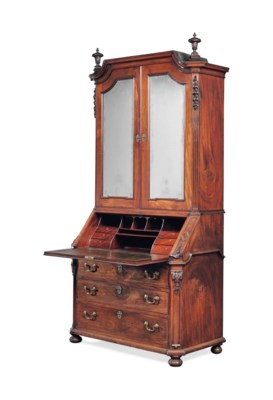 A NORTH GERMAN MAHOGANY BUREAU