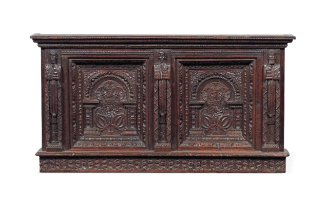 A JAMES I OAK OVERMANTEL