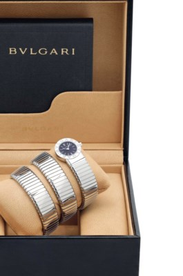 BVLGARI. A LADY'S STAINLESS ST