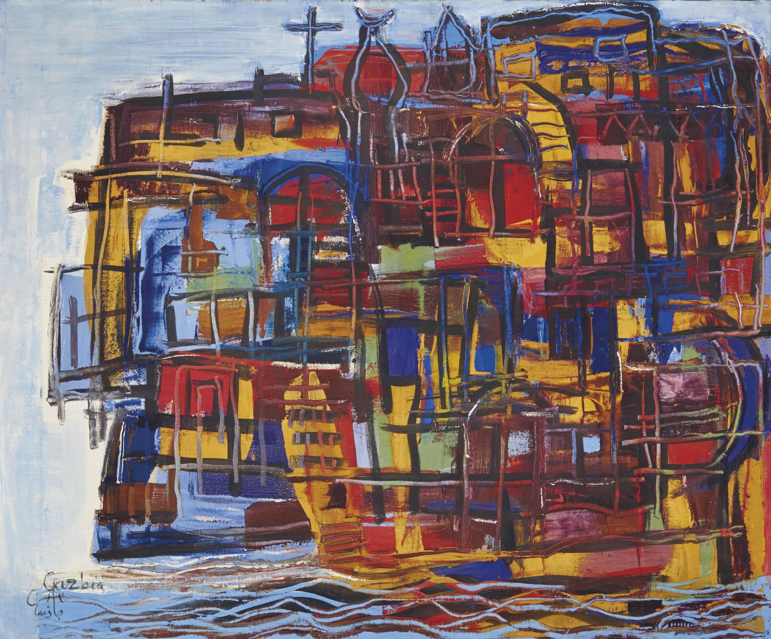 Gazbia sirry egyptian b 1925 maisons flottantes sur for Maison flottante