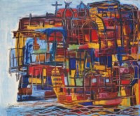 Maisons Flottantes sur le Nil (Floating Houses on the Nile)