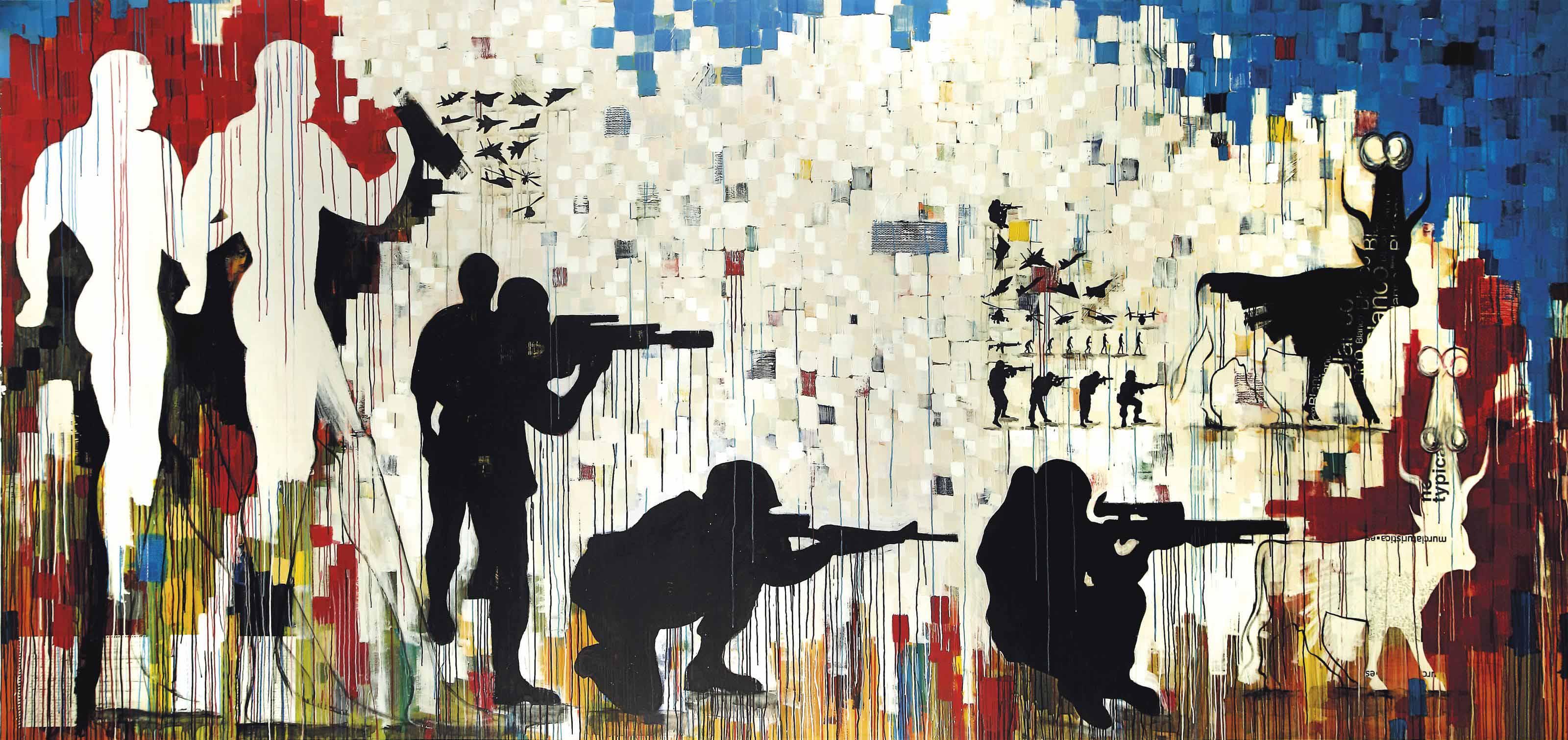 Khaled Hafez (Egyptian, b. 1963)   Tomb Sonata in Three Military ...