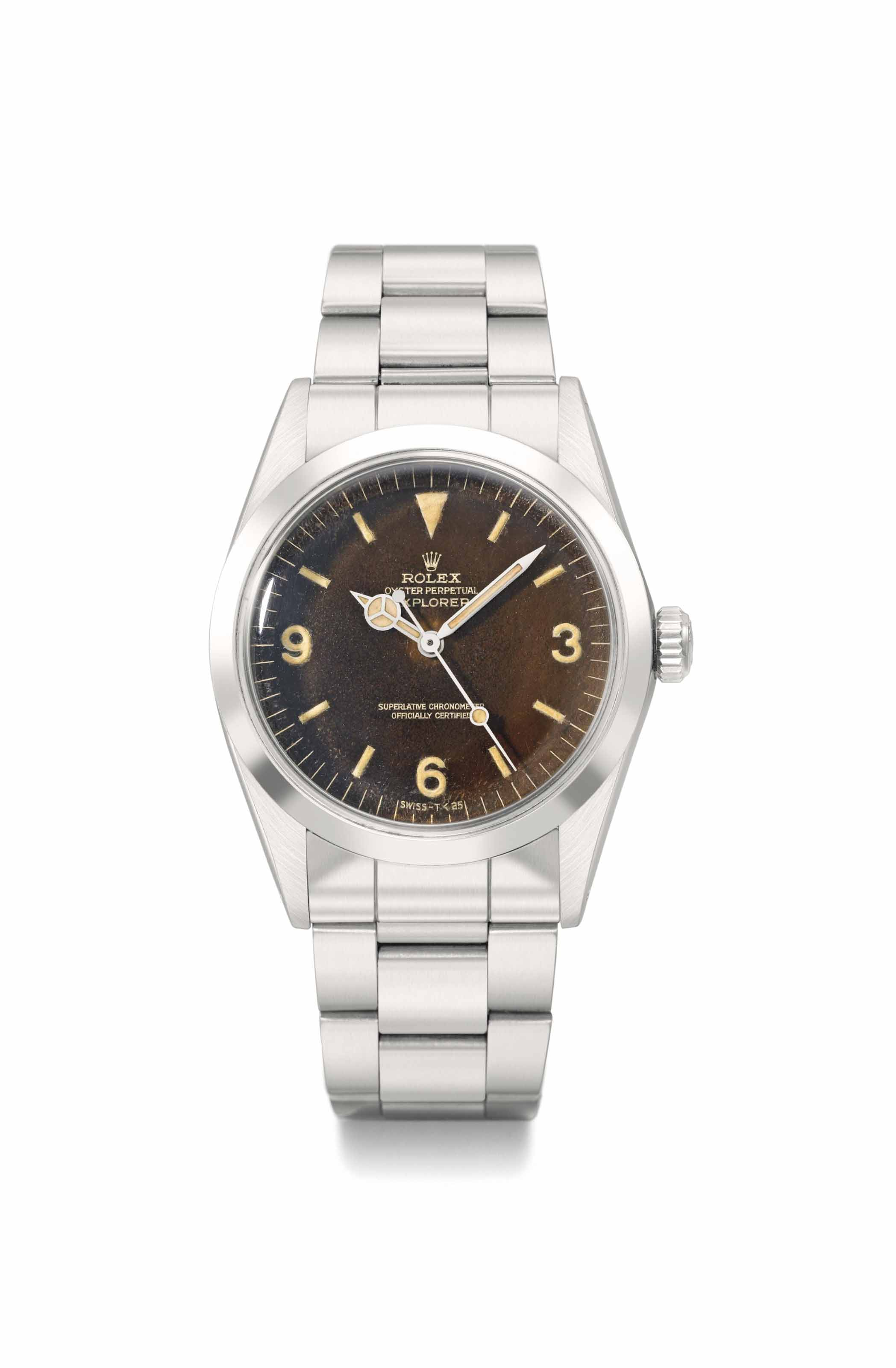 Rolex. An attractive stainless steel automatic wristwatch with sweep centre seconds and bracelet