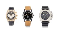 Chopard, Bell & Ross and Panerai. A lot of one 18K gold and two stainless steel wristwatches