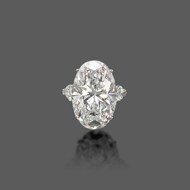 An important diamond ring by Graff. Sold for CHF 4,323,750 on 15 May 2013 at Christie's in Geneva