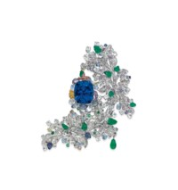 THE UNIQUE SAPPHIRE AND MULTI-GEM 'CÔTE D'AZUR' BROOCH, BY ANNA HU
