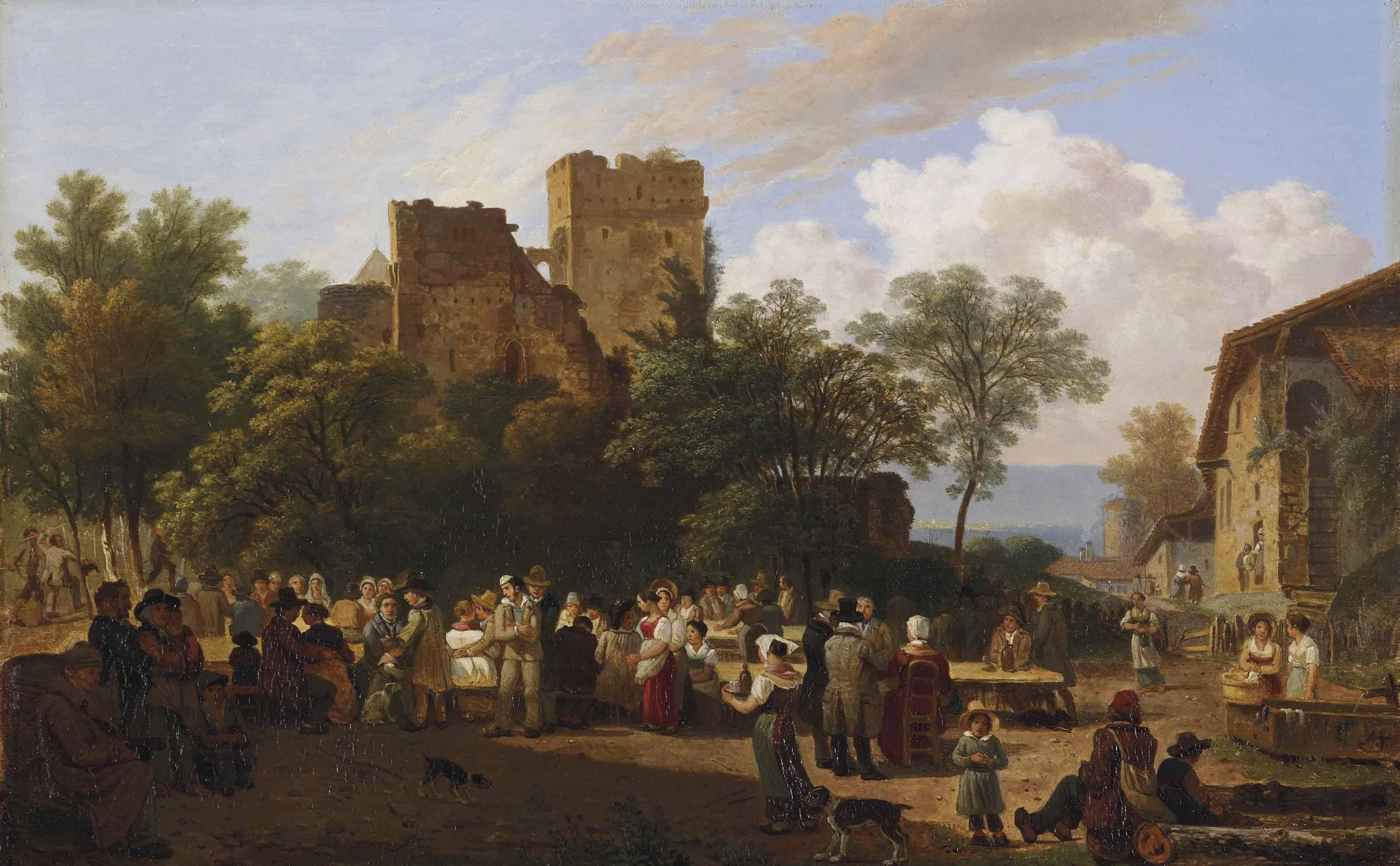 Banquet villageois, um 1840