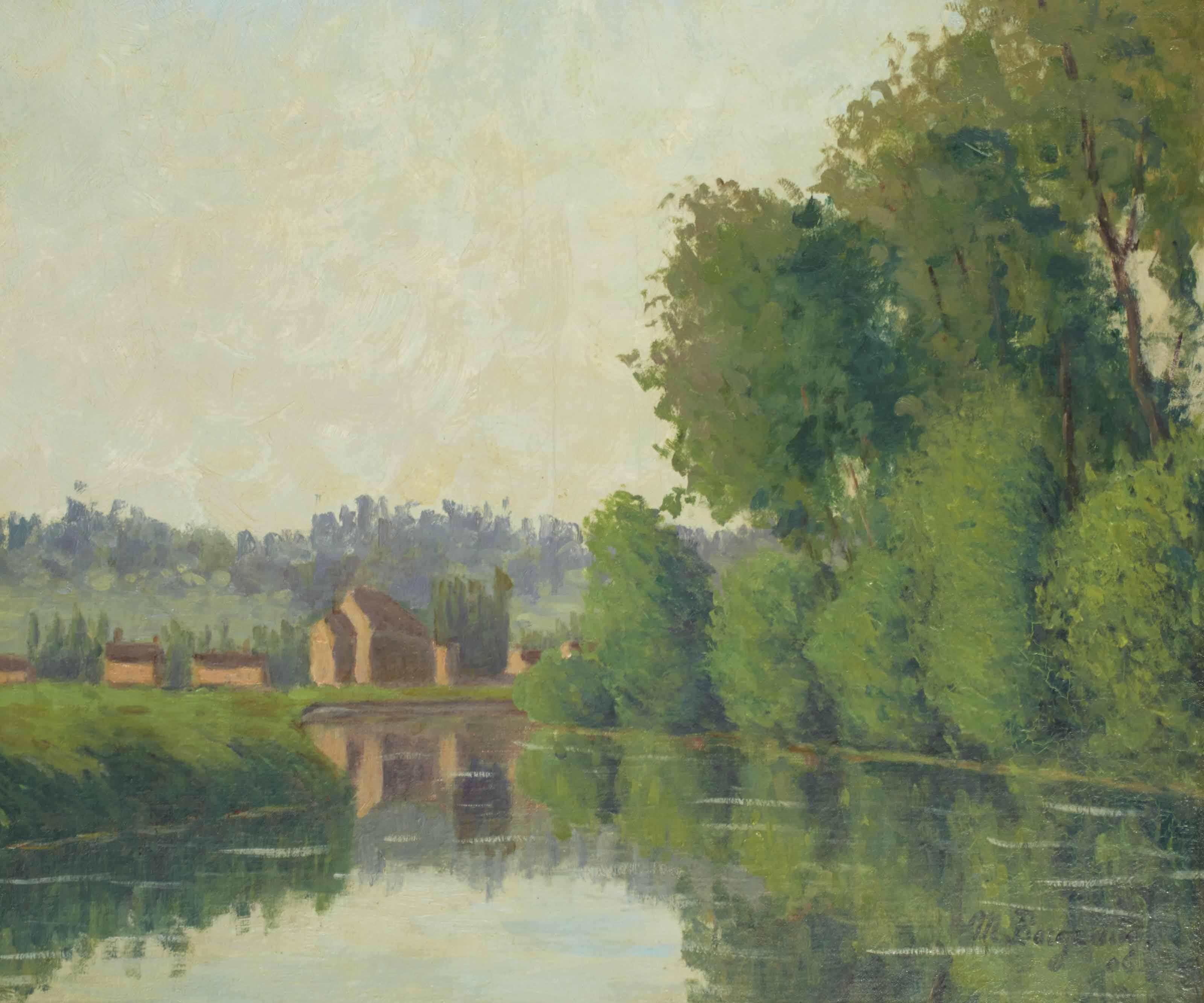 Bords du Morin, soleil levant, 1906