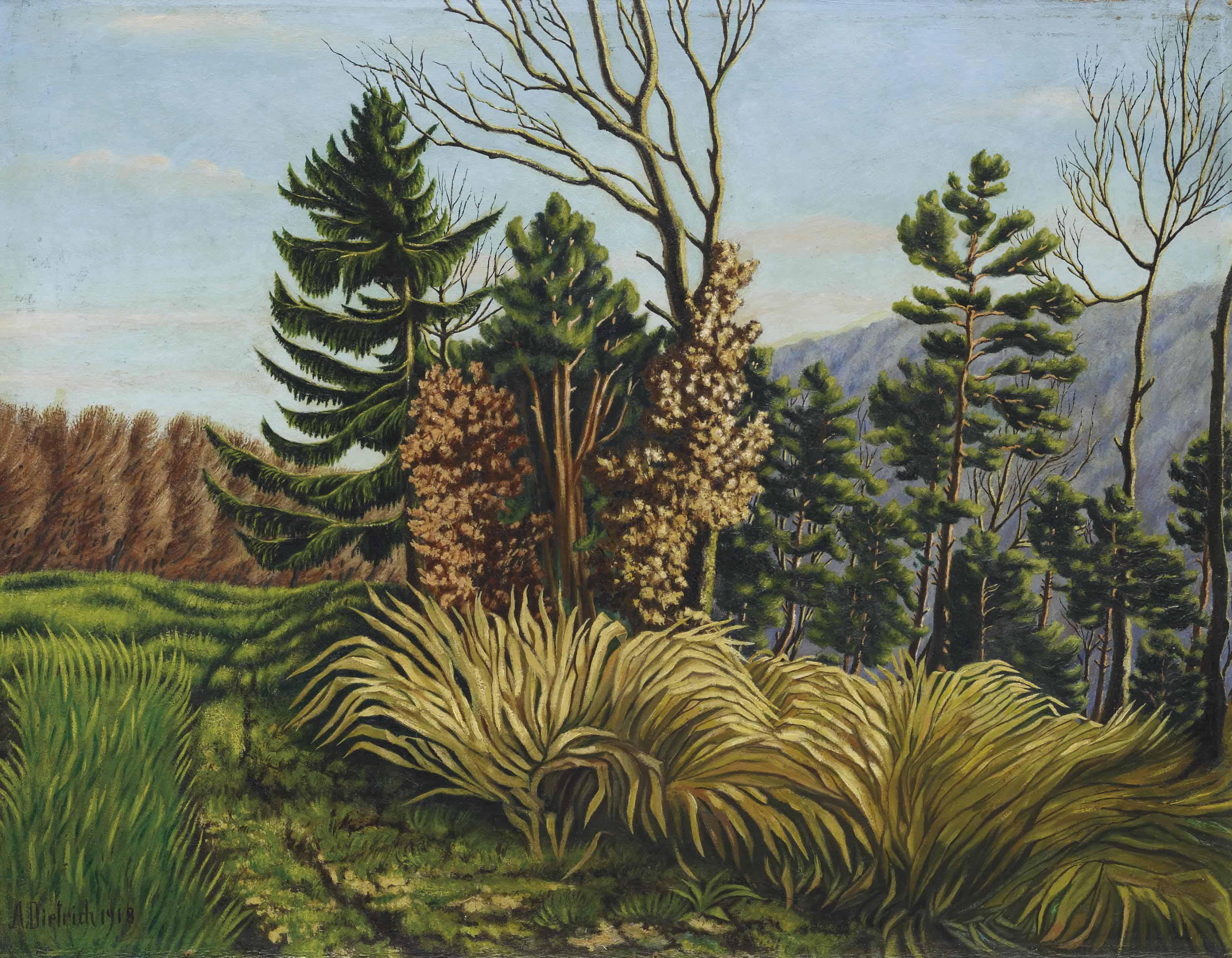 Waldrand, 1918
