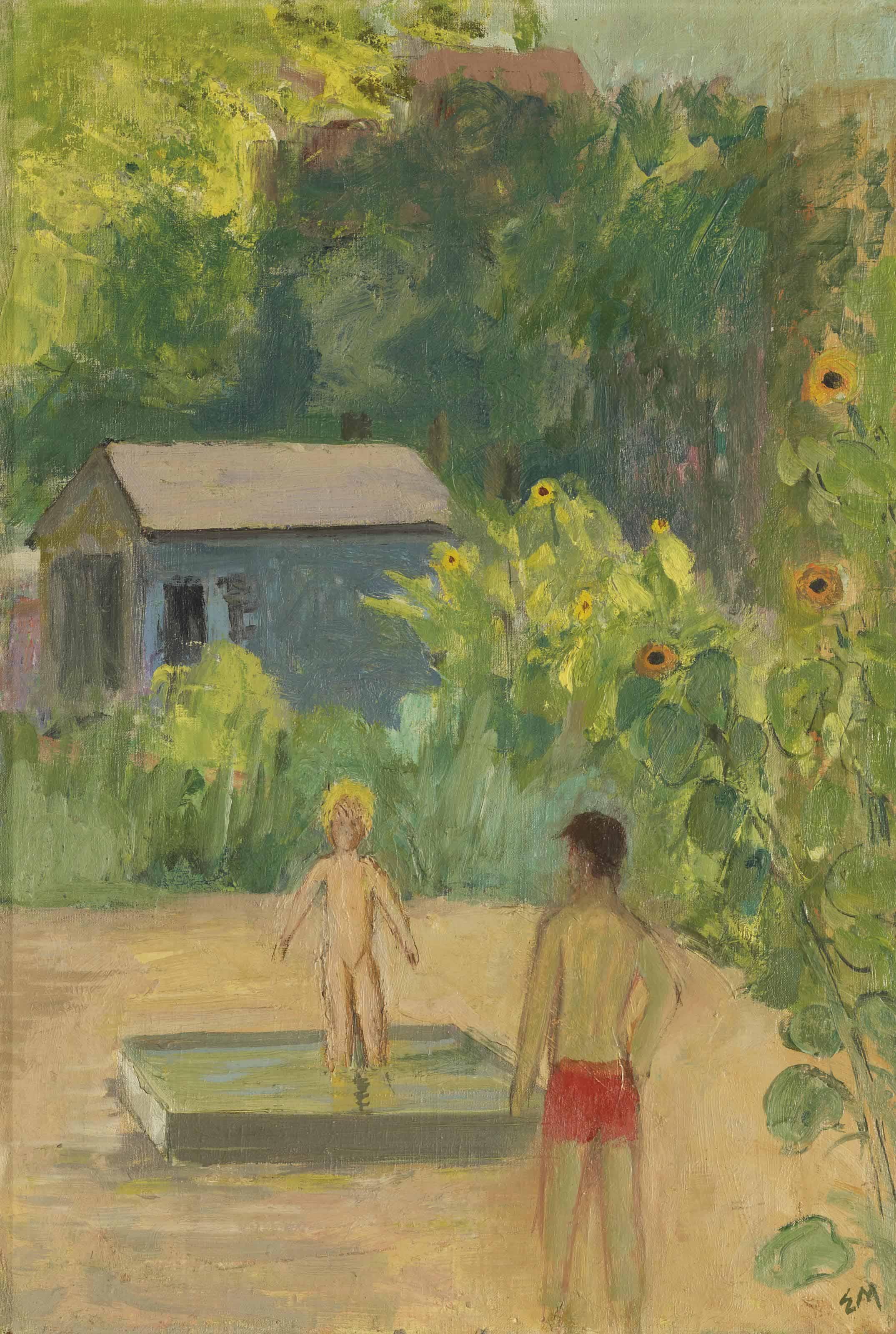 Im Garten, um 1931
