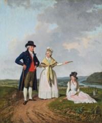 Trois personnages au bord du Rhin, 1792