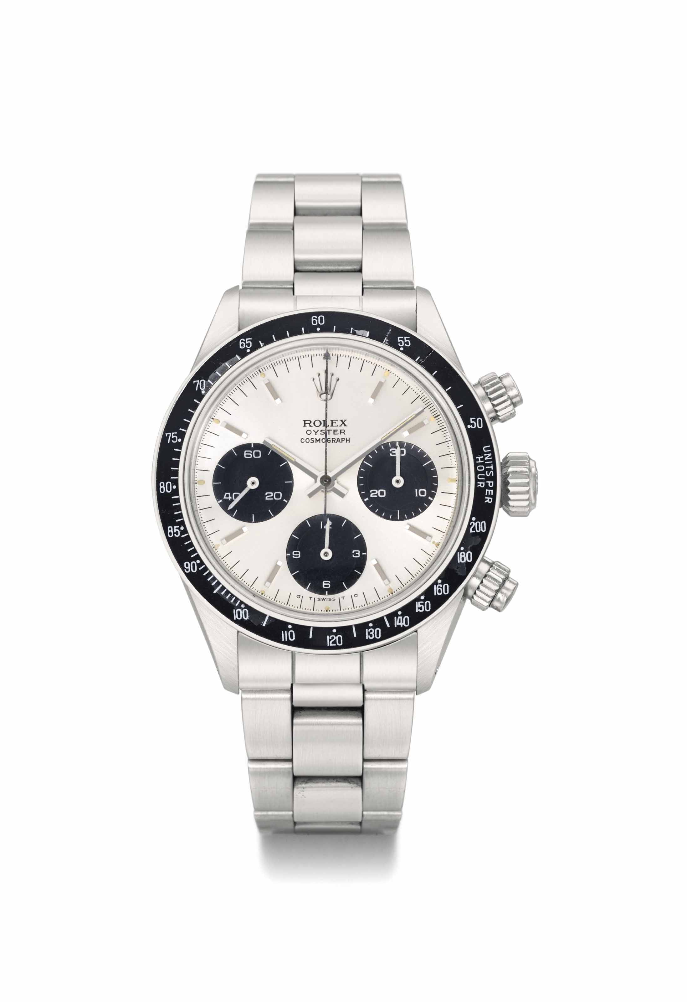 Rolex. A very rare and attractive stainless steel chronograph wristwatch with bracelet, original certificate and box, made for the Peruvian Airforce