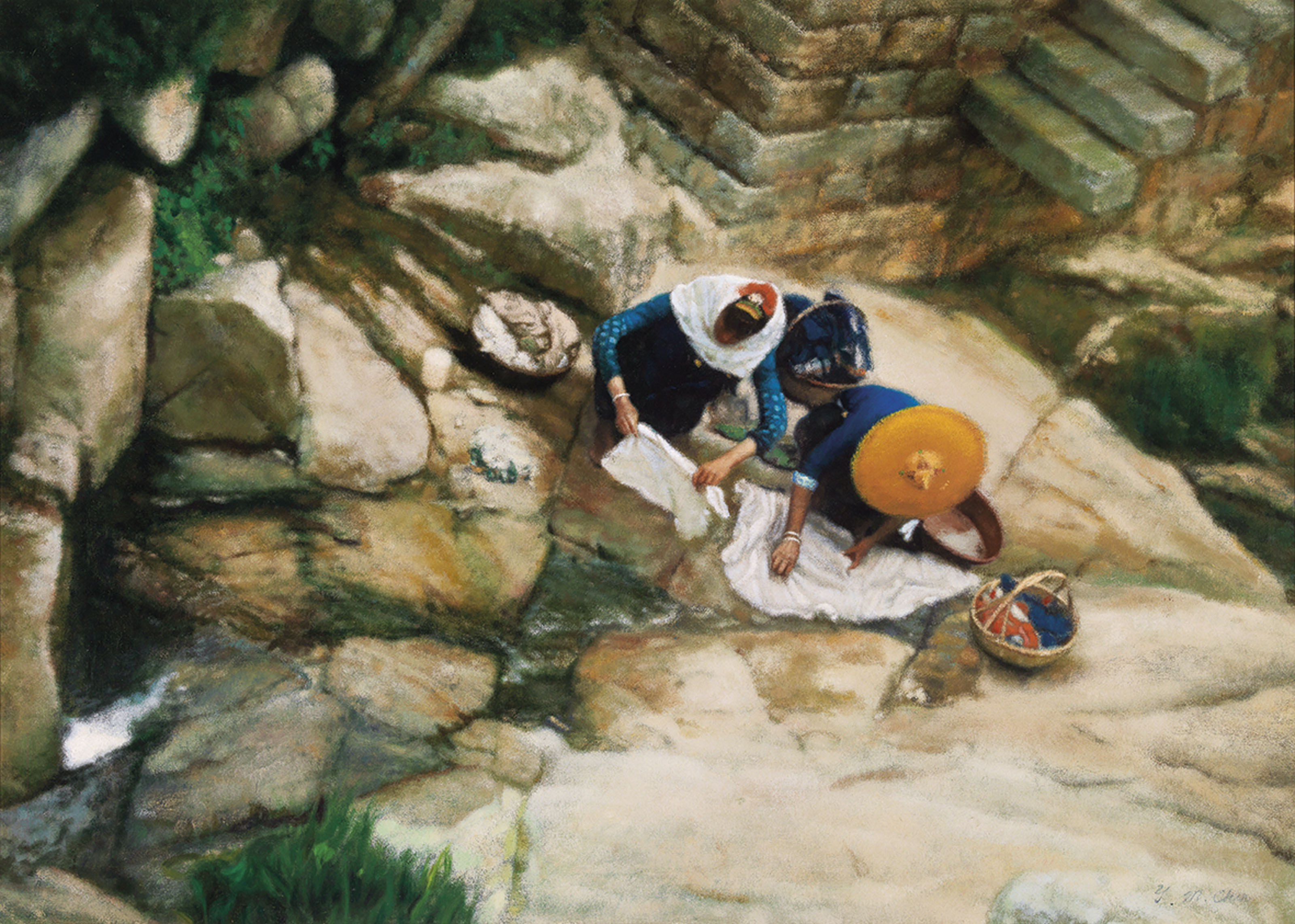 Hot Springs (Women Washing Clothes)