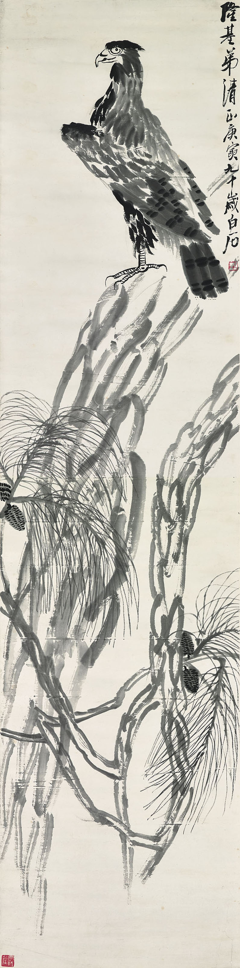 Eagle on Pine Tree