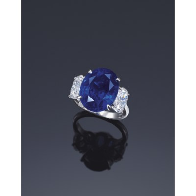 A Sapphire And Diamond Ring By Harry Winston Christie S