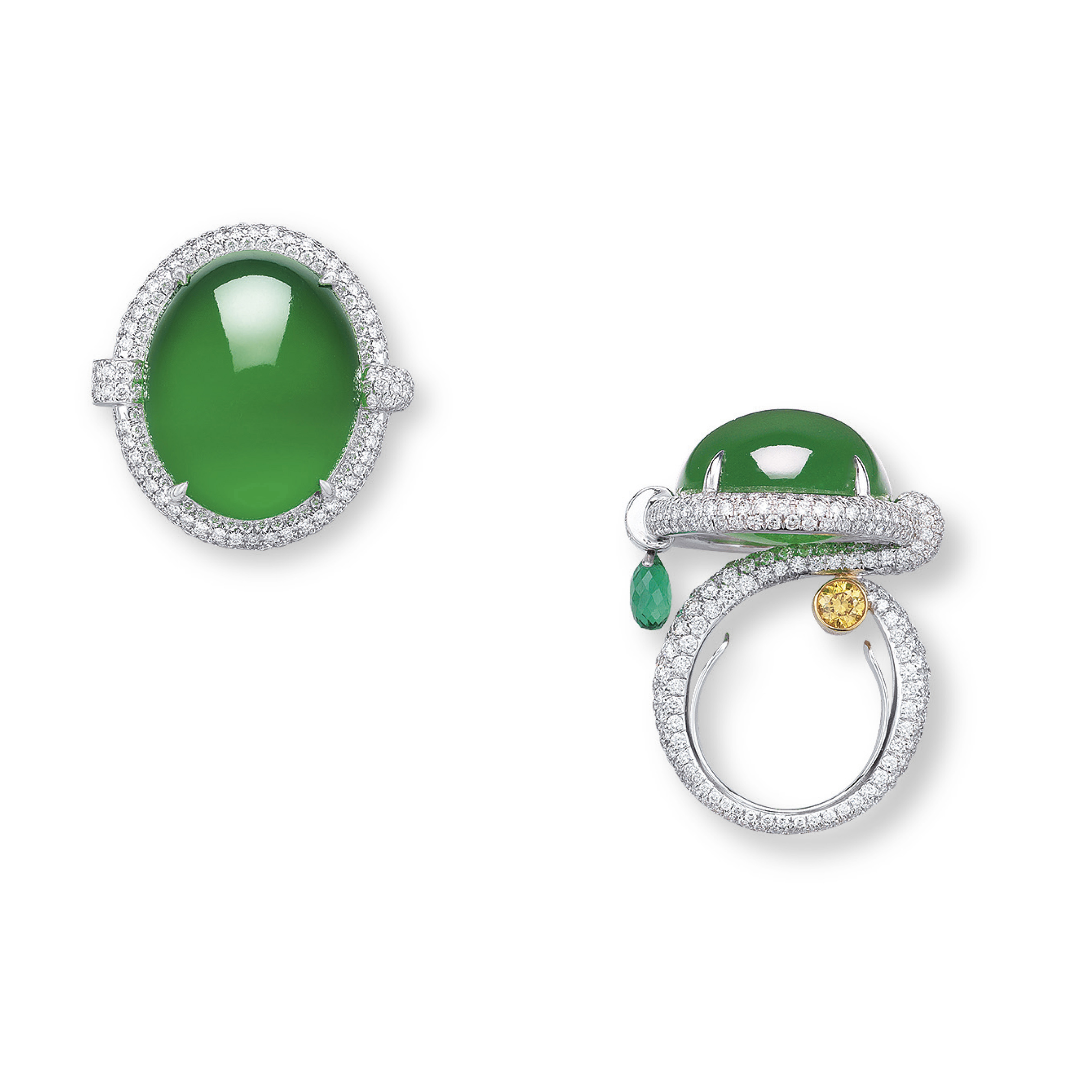 AN EXCEPTIONAL JADEITE AND MULTI-GEM 'ORPHEUS' RING, BY ANNA HU