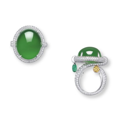 AN EXCEPTIONAL JADEITE AND MUL