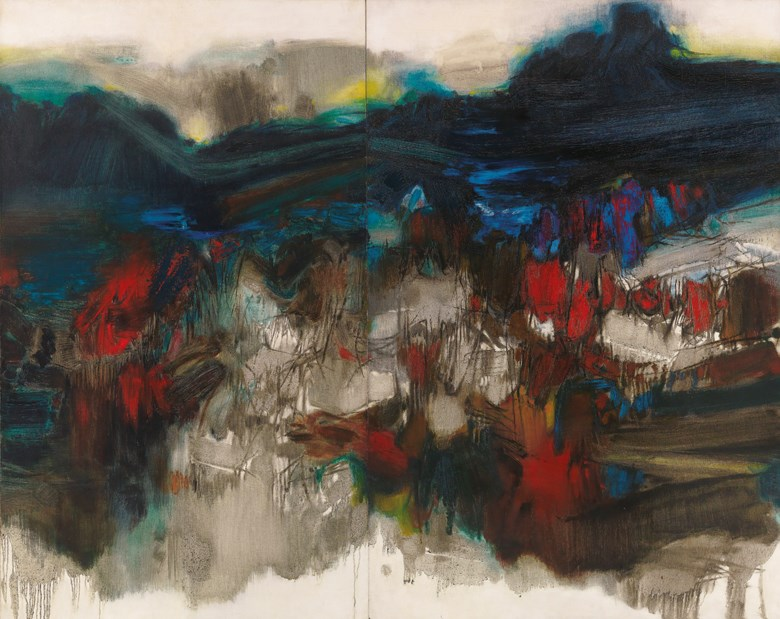 Chu Teh-Chun, Untitled, painted in 1963. Overall 195 x 243.5  cm (76¾ x 95⅞  in). Estimate on request. Offeredin the Asian 20th Century & Contemporary Art (Evening Sale) on 24 November 2018 at Christie's in Hong Kong