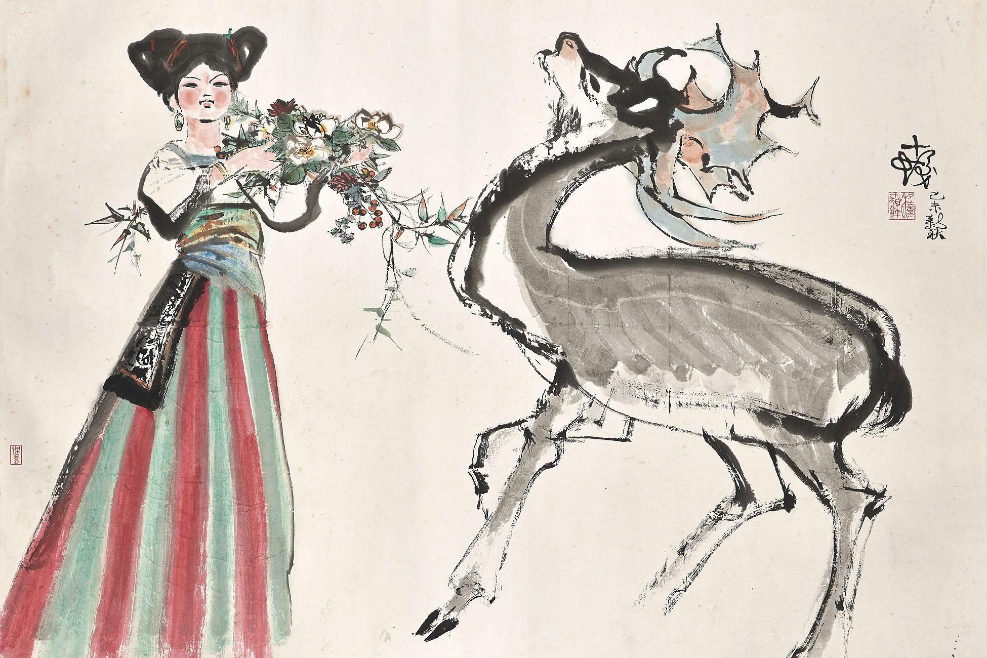 Maiden and Deer