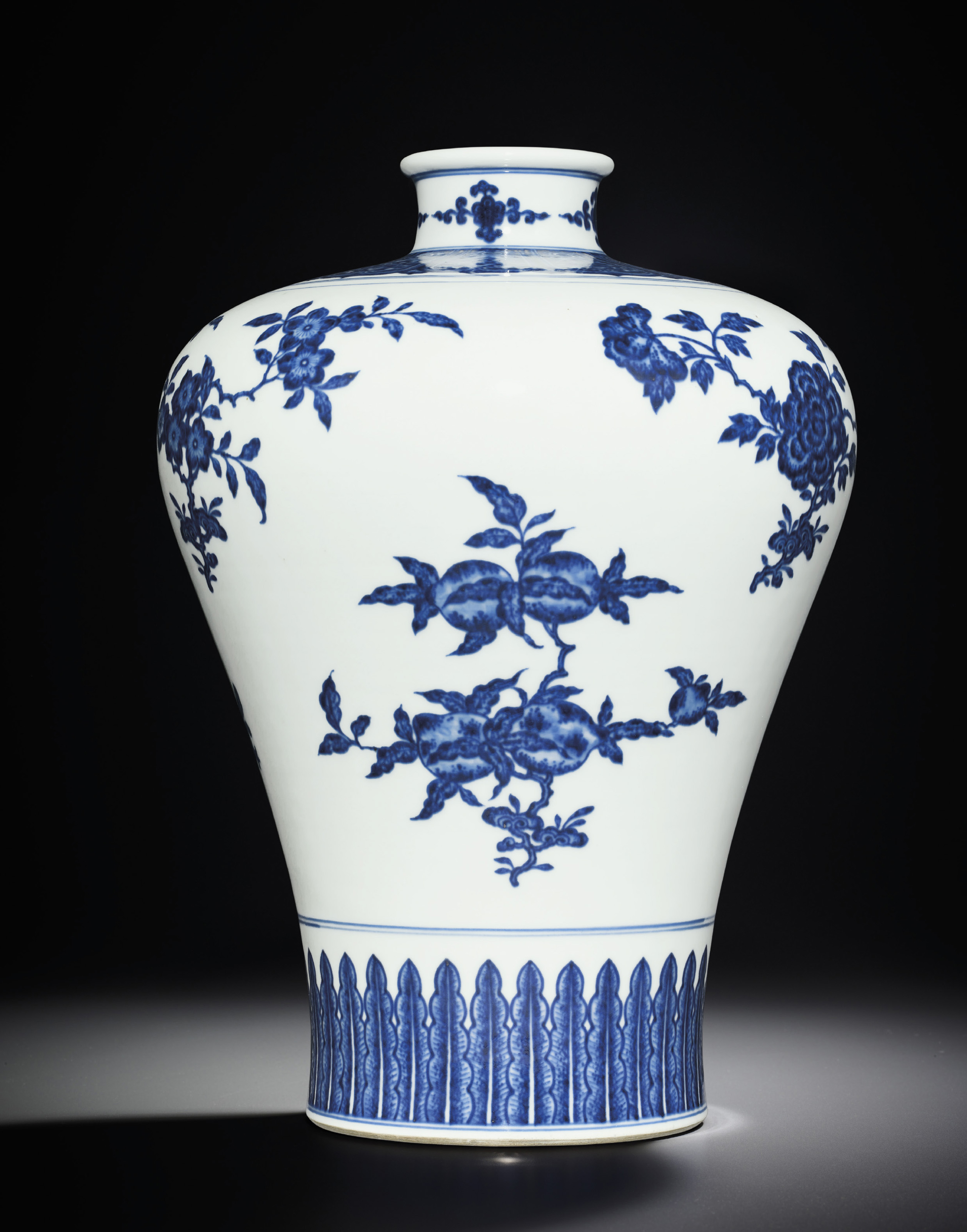 a blue and white vase meiping qianlong six character seal mark and of the period 1736 1795. Black Bedroom Furniture Sets. Home Design Ideas