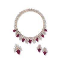 A SUITE OF RUBY AND DIAMOND JEWELLERY, BY BUCCELLATI