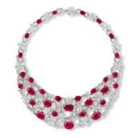 AN IMPORTANT RUBY AND DIAMOND 'FLORA' NECKLACE, BY BULGARI